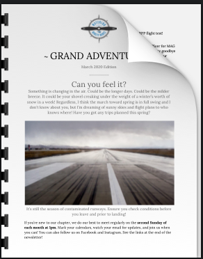 'Grand Adventures' of Waterloo on the Grand Chapter.. check out their newsletter.